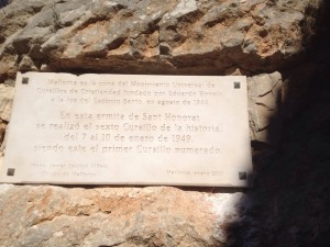 Placa en San Honorato